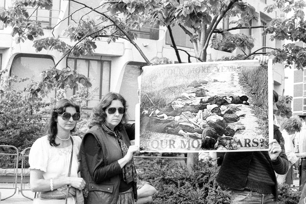Reagan protests - South American protesters at US Embassy